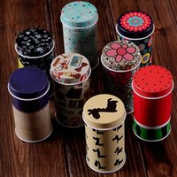 Wholesale 8 set Decoration Collection Display Toothpick Pill Chutty Mini Storage Metal Cartoon Tin Box cm