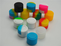 Wholesale Wax Containers silicone box ml Silicon container Non stick food grade wax jars dab storage jar oil holder for vaporizer vape