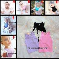 Wholesale Lace Tank Tops Toddler - Baby Girls Tank Tops Vests Toddler Infant Newborn Lace Crochet Vests Summer Kids Suspend Top T-shirt Children Boutique Clothes 7Color NC-C01