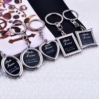 alloy steel insert - 6 Styles Mini Creative Metal Alloy Insert Photo Picture Frame Keyring Keychain Gift PC