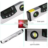 Wholesale cm quot Digital Red Laser Level Laser Horizontal Digital Protractor mm digital Inclinometer Spirit Level