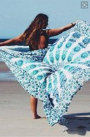 Wholesale Round quadrate Bikini Cover Ups Beach Beach Towel Bikini Cover Bohemian Beachwear Chiffon Beach Sarongs Shawl Bath Towel Yoga Mat LC396