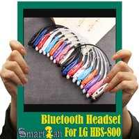 Wholesale Colorful HBS Wireless Bluetooth Stereo Headset Earphone Music Sport Neckband TONE for Cellphones iPhone LG Samsung White Grey Package