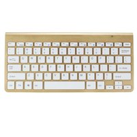 Wholesale Wireless Bluetooth Keyboard For PC Ipad Laptop Tablet Gold Slim Bluetooth Keyboard bluetooth up to m working distance