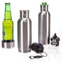 Wholesale 2016 Original Beer bottles Stainless Steel Ice Bottle Beer Chiller Bottle Insulator Fits Standard oz Bottles without Bottle Opener