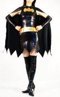 batman costumes for sale - Hot Sale Black Adult Female Men Batman Cosplay Costumes Lycra full body superhero Batman zentai Suits for Halloween