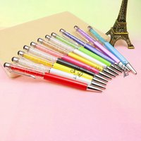 Wholesale Office stationery stationery fashion innovation crystal small broken auger lovers signature pen special touch ball pen