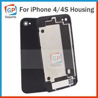 Wholesale Replacement Parts Battery Housing Door Back Cover Glass For iPhone G S Black White