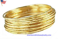 african quotes - Rich Stack Set of Bangles SOLID K GOLD gram or avail for quote in k