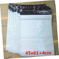 big carrier bags - 45x61 cm piece Big size white color mailer bag post mail envelope poly mailers shipping mailer bag carrier package thick bag