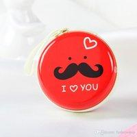 bag moustache - Mini Portable Moustache Metal Earphone Headphone Storage Pocket Carrying Zipper Case Bag Holder Hot Sale