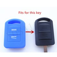 auto opel agila - Silicone car Key Cover fits for Opel Vauxhall Corsa C Meriva Agila Protector key Remote Shell Fob Car accessories auto parts