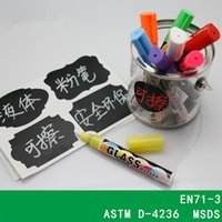 Wholesale 8pcs set Highlighter Liquid Chalk Marker Pens Fluorescent Marker Pen for School Art Painting LED Writing Board colors choose