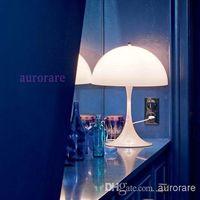 ac pan - Denmark Verner Panton Design Panthella Pan Sela White Acrylic Table Lamp Living Room Bedroom Bedside Desk Light Dia mm H mm