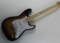 Wholesale High Quality China Custom Shop Golden Hardware Sunburst Pickups Maple Fingerboard Standard Electric Guitar