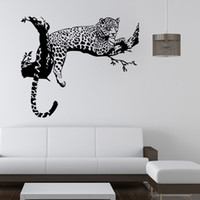 Wholesale New design Vinyl Wall Stickers Leopard Panther Home decoration Animal Wall decals for Living Rooms Home Decoration