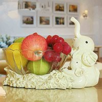 Wholesale Fruit Dishes and Plates Creative Fruit Bowl Elephant Dinnerware Living Room Arts and Crafts Home Decoration Ornament Gifts New Style