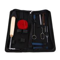 Wholesale 9 Set Piano Tuning Hammer Wool Mute Strip Tools Kit with Black Zip Bag hand tools caja de herramientas
