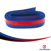 Wholesale PQY STORE PU Front Bumper Lip Skirt Protector Multideflector Front Bumper Strip Car Scratch Proof Adhesive Strip PQY FBL21