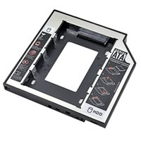 Wholesale New Aluminum Plastic for Laptop DVD CD ROM Universal nd HDD Caddy mm SATA For mm quot SSD HDD Case Enclosure