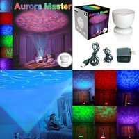 aurora power - 2016 Night Light Power Bank Multi Color Colorful Aurora Master Ocean Wave Projector LED Decoration Kid Children Gift Luminaria