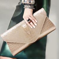 achat en gros de grain gros europe-Le nouveau 2016 cuir crocodile grain sac à main Europe et Amérique marque mode féminine sac en cuir sac de soirée en gros fabricant