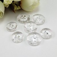 decorative buttons - freeshipping hot sale Latest bottomless transparent acrylic buttons two holds decorative buckle buttons DIY buttons