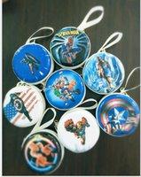american mini series - cartoon super spider man series cute tinplate Coin Purse coin case Mini earphone bag zipper coin bag key bag