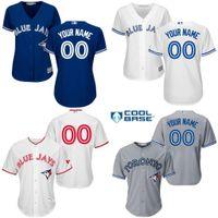 custom baseball jersey - cheap women customized baseball jerseys toronto blue jays personalized custom your name number mix order stitched logos