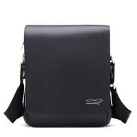 Wholesale Men Leather Handbag Briefcase Men Laptop Shoulder Boy Bag Messenger Bag