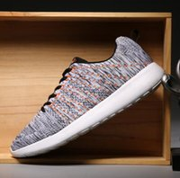 Wholesale Fly line sneakers men wear running shoes net surface ADLDAS loafers balance comfortable massage shoes