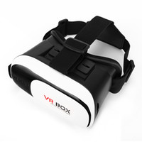 Wholesale DHL Virtual Reality D VR Glasses Google Cardboard D VR BOX Adjustable for quot to quot Smartphone VR02HF