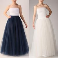 Wholesale Summer Boho Maxi Women Skirts Colors layers Floor Length Adult Long Tutu Tulle Skirts A Line Free Size