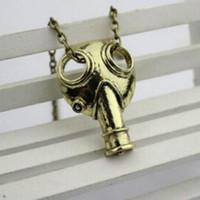 apocalypse movie - 2016 New Arrival Movie Jewelry Doctor Who Anti silver Steampunk Apocalypse Gas Mask Pendant Necklace