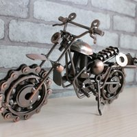antique motorcycle toys - Lovely Model Motorcycles Metal Crafts Iron Motorbike Models Toy Boys Gifts Kids Toys Vintage Home Decor
