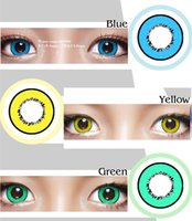 Wholesale Halloween crazy contact lenses pairs pieces Hollywood fancy contact lenses Cosplay color contact lenses