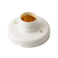 Wholesale 1Pc New Arrival Useful E27 Round Plastic Base Screw Light Bulb Lamp Socket Holder White