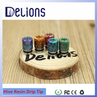 best fashion tips - 2016 Delions Fashion Design best selling Original colorful Epoxy resin DRIP TIPs Hive resin drip tips Cap