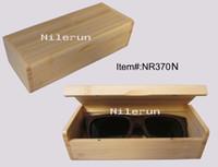 Wholesale natural bamboo sunglasses eyeglasses eyewear stationery case box