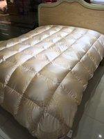 Wholesale Duvet goose down Beige luxury Bedding Supplies quilt Autumn and winter Special Manufacturers