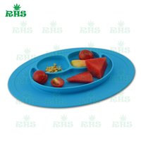 baby food trays - New Design Silicone Children Dining Plates Dishes Cartoon Silicone Baby Food Tray t Baby bowls kids tableware One piece silicone place F023