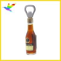 beer bottles labels - Advertising Label Beer Shape Bottle Magnetic Opener a wholesaling price hot sale light brown beer openers