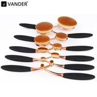 beauty face cosmetics - Oval MULTIPURPOSE Blush Blend Cosmetic Kit Brush Makeup Toothbrush Oval Makeup Brush for Face Foundation Beauty Tools Black Gold