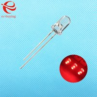 Wholesale mm Red LED Round Light Emitting Diode Transparent Ultra Bright Lamp Bead Plug in DIY Kit Practice Wide Angle mm