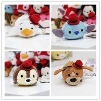 animal screen cleaners - Tsum Tsum Mini cm Plush doll Toys Screen Cleaner Stitch Mickey Minnie animal bear juguetes key chain accessory kids gift