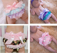 Summer america baby clothes - 2016 New Baby Girl Europe and America Shorts Bow Lace PP Shorts Satin Summer PP Shorts Baby Clothing T