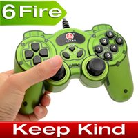 Wholesale New USB PC GamePad Shock game controller Joystick for PC with more buttons ALP005