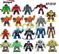 big fee - DHL EMS Fee KF1010 Super Heroes cm Big Hulk Minifigures Red Green Blue Cyan Orange Black Hulk Blocks Bricks Toys Christmas Gift