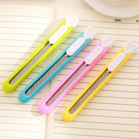Wholesale 2 Cute Colorful Kawaii Mini Utility Knife Art Knife for Student Office Student School Supplies DIY Tool Paper Cutter