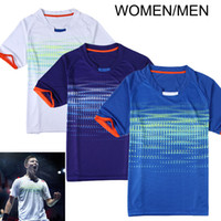 Wholesale badminton Shirt ChongWei game jersey Men Women Badminton Sports QuickDry T Shirt Badminton sportswear